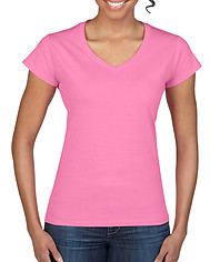 Gildan 6V400L Fitted Ladies V-Neck Tee - Colours