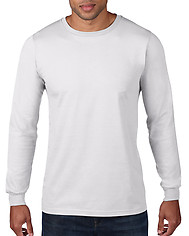 Anvil 949 Adult Long Sleeve Ringspun Tee - White