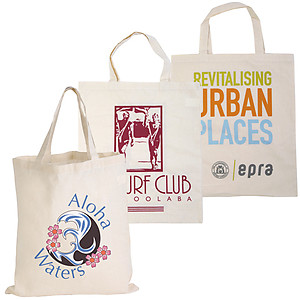 Calico Double Short Handle Tote Bag - 140 GSM