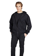 Ramo Mens Kangaroo Zip hoodie with Pocket