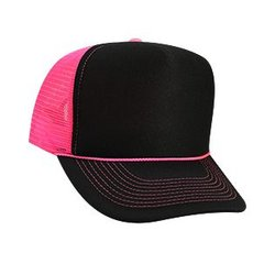 OTTO Black Trucker with Neon Mesh & Braid