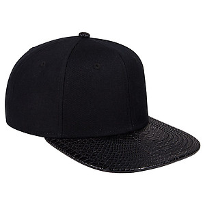 OTTO Wool Blend Snakeskin Flatpeak Cap
