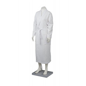 Waffle Bathrobe with Collar