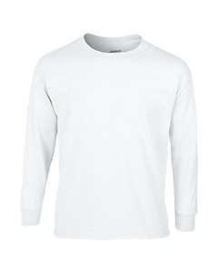 Gildan Youth Long Sleeve Tee  2400B- White