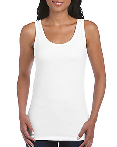 Gildan Ladies Softstyle Tank Top - White