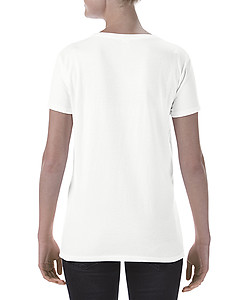 Gildan Ladies Deep Scoop Tee - White