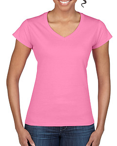 Gildan 64V00L Junior Fitted Ladies V-Neck Tee - Colours