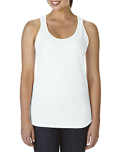 Anvil 6751L Tri-Blend Ladies Racerback Tank - White