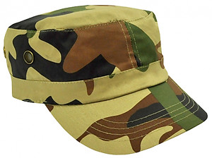 Camo Military Cap/Premium Cotton Twill