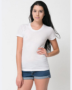 American Apparel Ladies Cotton Short Sleeve T - White