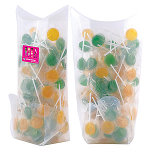 Corporate Colour Lollipops in Confectionery Dispenser