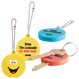 Flexible PVC Key Topper - 2 Pos PVC Moulded Flat or 2D (INDENT)