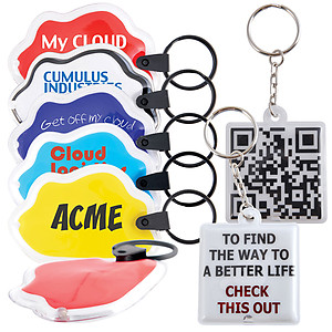 LED PVC Flashlight Keytag up to 2 colour print (INDENT)