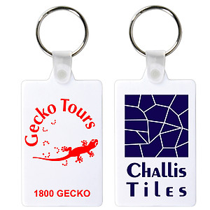 White Rectangular Soft PVC Keytag