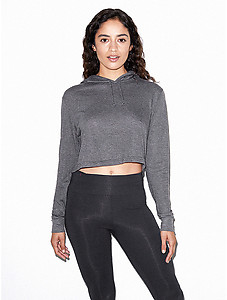 American Apparel Ladies Tri-Blend Cropped Hoody