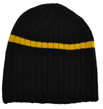 Acrylic Beanie with Stripe