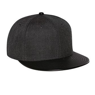 OTTO Wool Blend Leather Snapback Cap