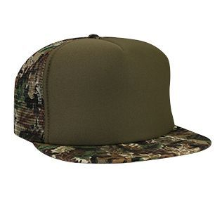 OTTO Camouflage Brim and Mesh Trucker