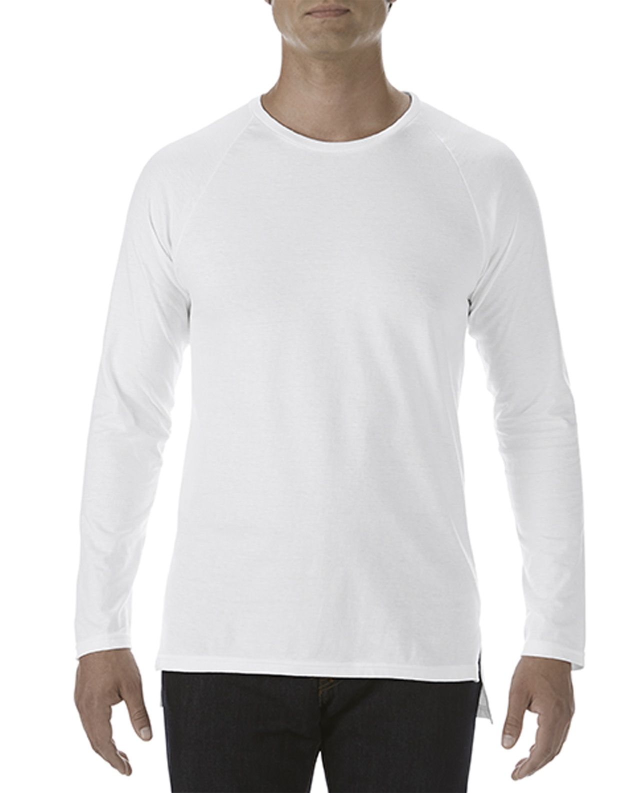 Anvil Adult Long & Lean Long Sleeve Tee - White