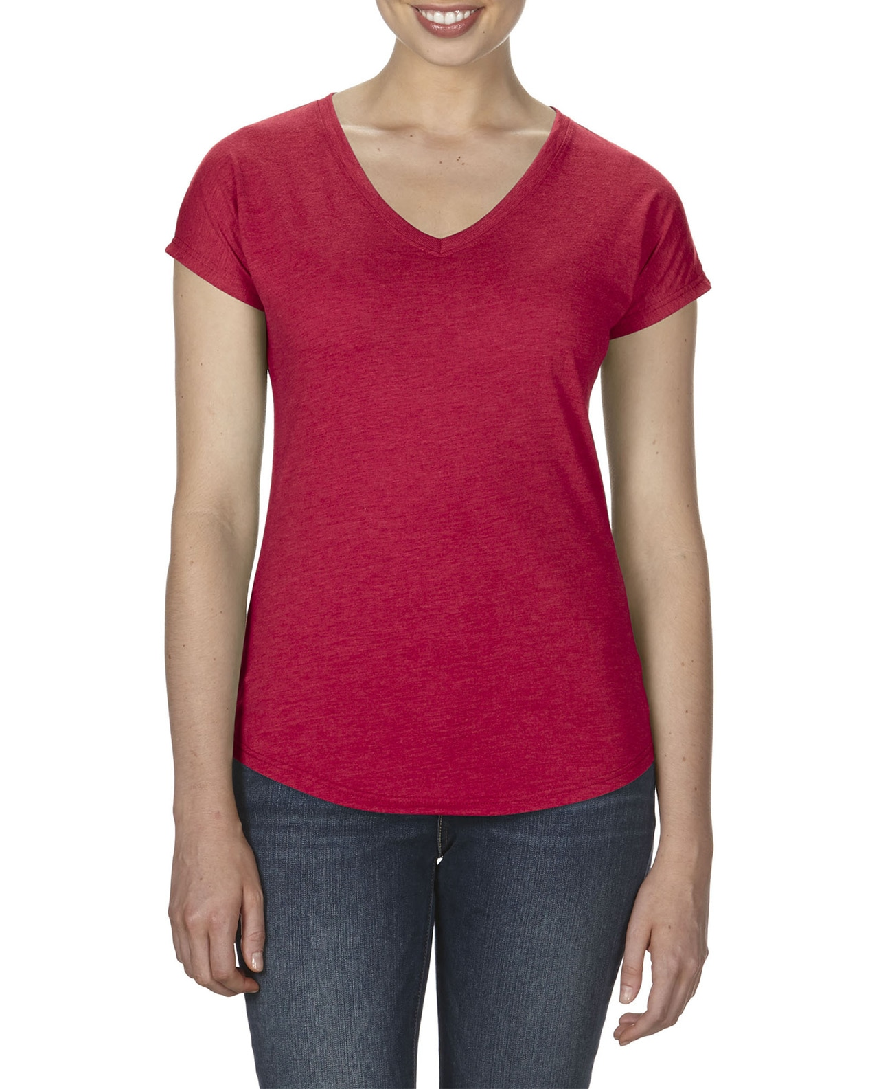 Anvil 6750VL Tri-Blend Ladies V-Neck Tee