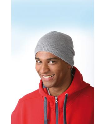 Myrtle Beach Beanie Basic - Knitted Beanie with Fleece Inset