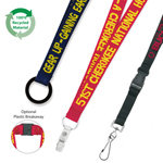 19mm Enviro Friendly Woven Text Lanyard